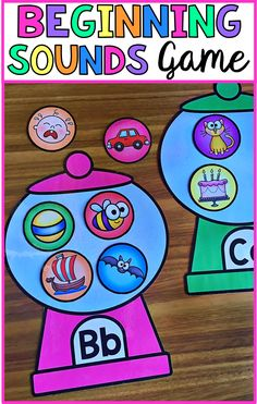 Beginning Sounds Pack – Worksheets and Gumball Game Beginning Sounds activity. This game is great for literacy centers and small group work. The pack features worksheets as well as this gumball game. Kindergarten Literacy, Alphabet Activities, Early Literacy, Literacy Centers, Classroom Activities, Preschool Activities, Letter Sound Activities, Literacy Programs, Learning Letters