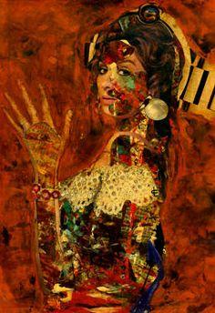 "Saatchi Art Artist CARMEN LUNA; Collage, ""29- Collagemania. Estrella Morente."" #art http://www.saatchiart.com/art-collection/Assemblage-Collage/Collagemania-CARMEN-LUNA/71968/46137/view"