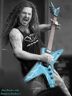 Dimebag Darrell!!! tha man that took the screaming of the guitatr to a whole new level! R.I.P DIME