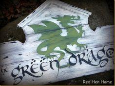 Green Dragon inn sign -from The Hobbit