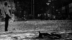 """The Lonley Photographer"" shot this morning at #Juhu Beach in Mumbai. by craigboehman"
