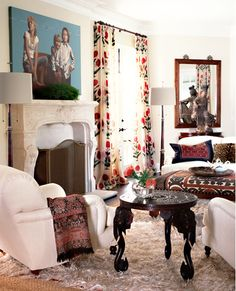 Thinking of curtains like this for my living room redo!