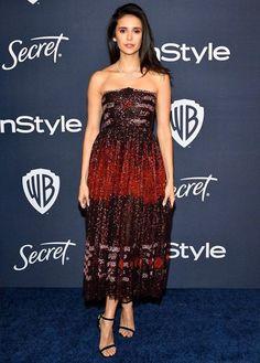 Nina Dobrev💘 Strapless Dress Formal, Formal Dresses, Delena, Nina Dobrev, Pretty Woman, Actors, Lady, Elena Gilbert, Beauty