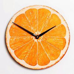 Orange Clock. $35.00, via Etsy.