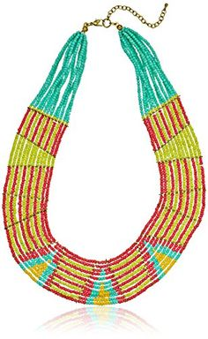Bright Multi-Color Beaded Collar Statement Necklace *** Read review @ http://www.amazon.com/gp/product/B00HQDAQY4/?tag=ilikeboutique09-20&yx=180716001649