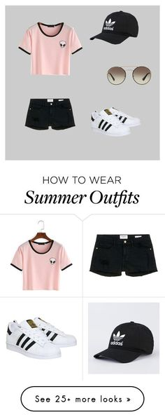 Outfit For A Summer Day by erinmaries on Polyvore featuring adidas, Prada, Frame Denim and summer2016