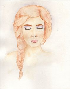 Hey, I found this really awesome Etsy listing at https://www.etsy.com/listing/256815901/redhead-with-braid-watercolor-portrait