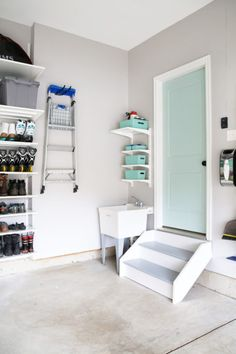 Take a tour of this incredibly organized garage and get inspiration and ideas for your own garage organization project! Take a tour of our organized garage and get inspiration and ideas for your own garage organization project! Garage Tool Organization, Diy Garage Storage, Ikea Storage, Closet Storage, Organizing A Garage, Organization Ideas, Ball Storage, Garage Shelving, Shelves