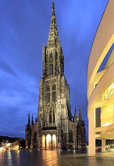 Ulm Münster - tallest church in the world.  I stood at the base of this and was in complete awe.  My girlfriends and I climbed to the top of the steeple... no easy feat!