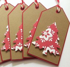 Christmas Gift Tags Christmas Tree Gift Tags Kraft by TerrysCards, | http://christmasdecorstyles.blogspot.com