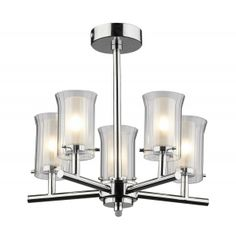 Elba 5 Light Semi Flush Polished Chrome IP44 - catalogue