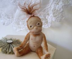 My new commissioned piece, an OOAK toddler orangutan