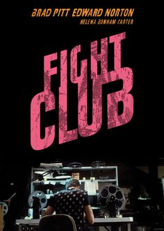 Awesome Animated Film Posters - Fight Club