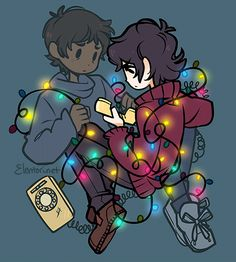 """I don't care if anyone else believes me"" Stranger Things and Voltron crossover, Klance, Elentori art on tumblr"