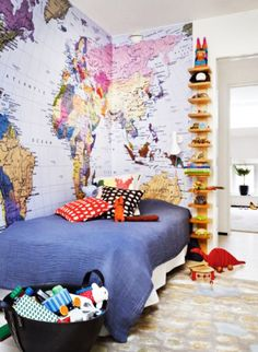 For a kids room - from:Stylish Apartment in Traditional With Scandinavian Colors Art | Modern Interior Decoration, Furniture Design Ideas, Luxury Home Design |interior decoration site