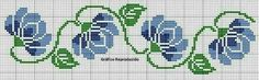 This Pin was discovered by Şer Cross Stitch Art, Cross Stitch Borders, Cross Stitch Flowers, Cross Stitch Designs, Cross Stitching, Cross Stitch Embroidery, Embroidery Patterns, Cross Stitch Patterns, Flowering Vines