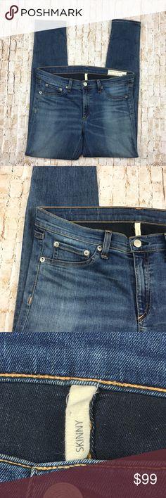 "Rag & Bone Women's Skinny Jeans Sz 30 Clean Euston Rag & Bone Womens Skinny Jeans  Style: W1502K089CEU  Size: 30  Wash: Clean Euston    Measurements  Waist: 17""  Inseam: 29""  Outseam: 38"" rag & bone Jeans Skinny"