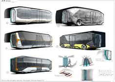 Bus concepts for Minority Report TV project by Timur Mutsaev on ArtStation.