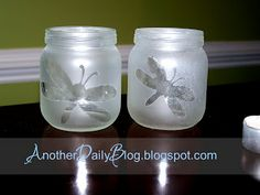 Another Daily Blog: DIY FROSTED GLASS BABY FOOD JAR TEA LIGHT/VOTIVE CANDLE HOLDERS: