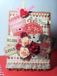 NJ Deb's Bingo Banner Saint Valentine, Love Valentines, Valentine Day Cards, Bingo Cards, Diy Cards, Envelopes, Banners, Embellishments, Card Ideas