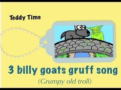 3 Billy Goats Gruff song (Grumpy Old Troll) - kids song (Teddy time version) Preschool Songs, Preschool Literacy, Kids Songs, Traditional Tales, Traditional Stories, Audio Books For Kids, Music For Kids, Letter G Activities, Fairy Tale Crafts