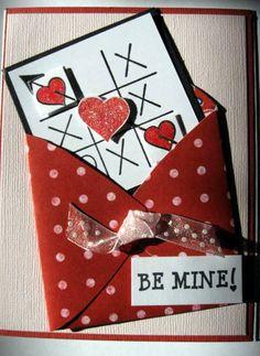 Be Mine Valentine card  tic tac toe