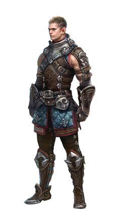 Male Human Brawler - Pathfinder PFRPG DND D&D d20 fantasy