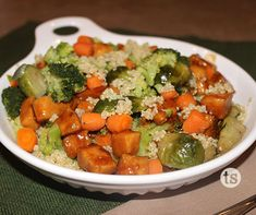 This Teriyaki Chicken Quinoa Bowl is a perfect healthy meal option for lunch or dinner.