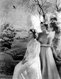 Princess Elizabeth and Princess Margaret, 1945  Photography by Sir Cecil Beaton