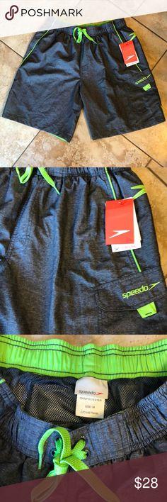 09a7774501 NWT Speedo Swim Trunks, Medium Brand new, Speedo trunks with several  storage pockets,