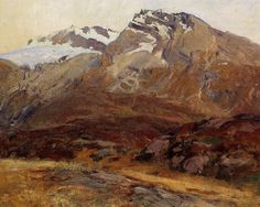 John Singer Sargent - Coming Down from Mont Blanc (also known as Hubshorn Mountain, Simplon Pass)
