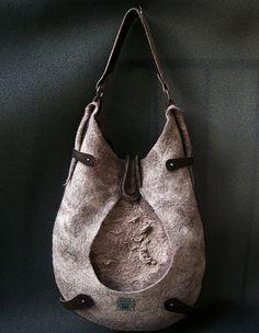 Felt drop-bag. $380.00, via Etsy.