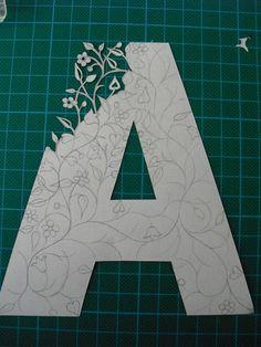 Papercut Initials