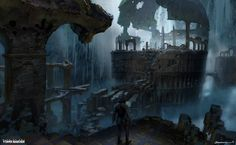 Kitezh Boss Arena Vista - Rise of the Tomb Raider Concept Art, Yohann Schepacz OXAN STUDIO on ArtStation at https://www.artstation.com/artwork/aEkrq