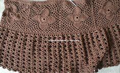 Шикарная юбка крючком в стиле Бохо - Модное вязание