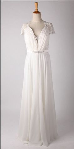 Jenny Packham Inspired Lace Chiffon Wedding Dress Cap by autoalive