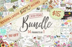 90%OFF BUNDLE 14 Products in 1 by Eva-Katerina on @creativemarket