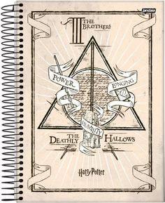 Caderno 1/4 Espiral Capa Dura Jandaia 96 Folhas - Harry Potter The Brothers