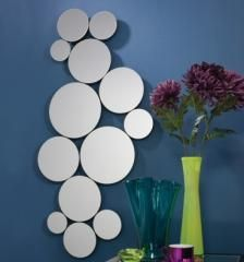 Oval Frameless Wall Mirror With Bevelled Glass X 24 Inch)     Prints U0026  Artwork