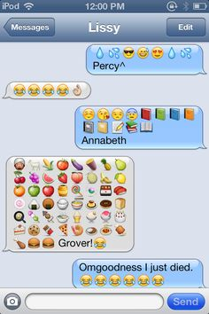 Percy Jackson Characters in emojis. SOOO Something we would do :)