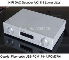HIFI DAC Decoder AK4118 Software Control Support Coaxial Fiber Optic USB Output PCM1794A PCM2704 Audio US $193.18