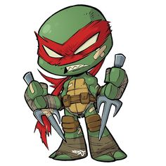 Chibi Raphael! I'm making a set of TMNT Chibi stickers. You can pre-order all 4 turtles right now from my art store. (Click link in my bio to go directly to the page). Only $10 for the set + $3 shipping worldwide! PRE ORDER DEAL: I'll be adding a free Batman sticker to all preorders (while stocks last). Estimated release date is late April 2018. - - - #tmnt #raphael #artistsoninstagram #teenagemutantninjaturtles #ninja #turtle #sticker #redj #drawing #chibi #cute #graffiti #tattoo #style… Ninja Turtle Drawing, Ninja Turtle Tattoos, Ninja Turtles Art, Teenage Mutant Ninja Turtles, Tmnt, Chibi Characters, Disney Tattoos, Mandala, Character Design
