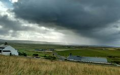 Threatening morning clouds over Orkney Brewery, Quoyloo, Orkney. August 2016. Photo by Graham Brown.