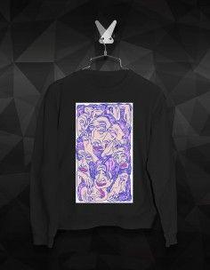 WOMEN'S PRINTING SWEATSHIRTS Printed Sweatshirts, Mens Sweatshirts, Creepy Faces, Face Men, K2, M Color, Streetwear Brands, Street Wear, Printing