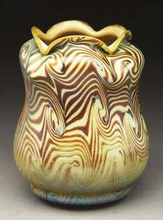 Tiffany Favrile Glass King Tut Vase.