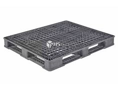 """The STK 210 is a recyclable, stackable pallet made from a black, reinforced PE/PP/FM plastic blend. This is a one-piece pallet with 4-way entry access that measures 48"""" x 40"""" x 5.13"""" and weighs 34 lbs. It can stack 17 pallets high, and has a dynamic capacity of 4,000 lbs and a static capacity of 20,000 lbs. The materials in this model have been approved by the FDA and will not absorb any acids, solvents, odors, fats, or water; nor will it allow bacteria growth. Plastic Pallets, Recycling, Fences, Gates, Model, Black, Picket Fences, Black People"""