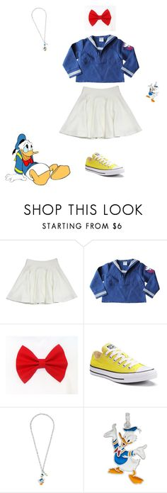 """""""Donald Duck Disneybound"""" by cecicury ❤ liked on Polyvore featuring Milly, Converse and Gucci"""