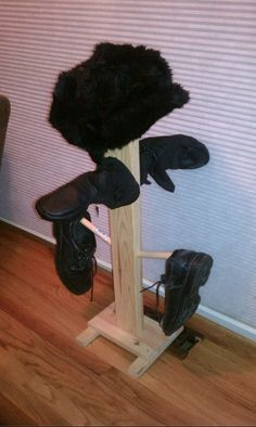 The boot/glove tree we made last year comes in handy after shoveling snow Shoveling Snow, Glove, Bookends, Home Decor, Decoration Home, Room Decor, Home Interior Design, Home Decoration, Interior Design