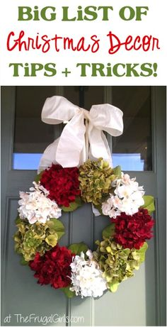 Christmas Decorating Ideas! ~ at TheFrugalGirls.com ~ get inspired with this BIG List of holiday home decor tips and trips to deck your halls! #thefrugalgirls