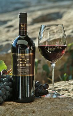 Vino Rosso Reale Vino dal colore rosso rubino intenso ottenuto da uve Nero di Troia.
